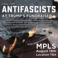 [EUA] Minneapolis: Chamado antifascista para o evento angariador de fundos do Trump