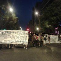 [Grécia] Informação sobre a marcha realizada em Atenas em solidariedade com as okupas reprimidas em Tessalônica