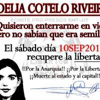 [Espanha] A companheira anarquista Noelia Cotelo é libertada após 8 anos na prisão