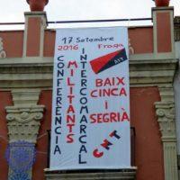 [Espanha] Celebrada em Fraga a 1ª Conferência de Militantes Inter-comarcas da CNT de Baix Cinca e Segrià