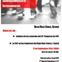 [Espanha] Fraga: Conferência Anarcossindicalista entre comarcas