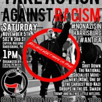 [EUA] 5 de novembro: ponha os nazis para correr de Harrisburg, PA