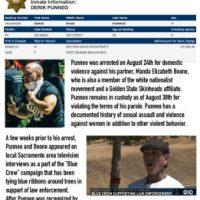 [EUA] Nazi de Sacramento, Derick Punneo, preso por violência doméstica
