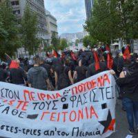 [Grécia] Pireu: Manifestação antifascista não permite que a cúpula do Aurora Dourada saia da igreja para celebrar evento fascista