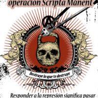 [México] Cartazes em solidariedade com xs companheirxs presos na operação Scripta Manent