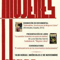 "[Chile] 02/11: Jornada Ácrata sobre ""Mujeres Libres"""