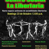 "[El Salvador] É neste domingo a abertura do Centro Social ""La Libertaria"""