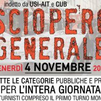 [Itália] 4 de novembro de 2016: Greve Geral!