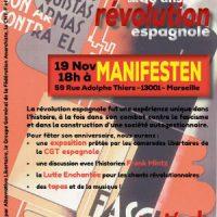[França] Festa de 80 anos da Revolução Espanhola em Marselha, 19 de novembro de 2016