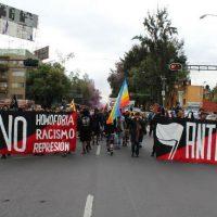 [México] Marcha antifascista reúne dezenas de pessoas na Cidade do México