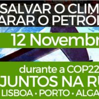[Portugal] Manifestação: Salvar o Clima, Parar o Petróleo