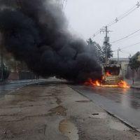 [Chile] Santiago: Reivindicação de atentado incendiário contra ônibus da Transantiago