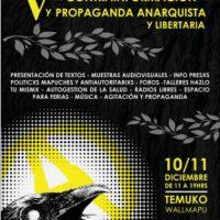 [Chile] Temuco: V Jornadas de Contrainformação e Propaganda Anarquista