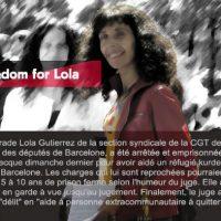 [Espanha-Grécia] Contra o encarceramento da solidariedade: Lola Livre!