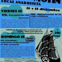 [Espanha] Madrid: Inauguração do Local Anarquista Motín, 16 e 18 de dezembro
