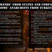 """Nossas """"exigências"""" aos Estados e empresas, """"alguns"""" anarquistas da Turquia"""