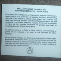 [Chile] Santiago: Ataque incendiário a caixa de eletricidade em autopista do Projeto IIRSA