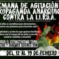 [Chile] Semana de agitação e propaganda anárquica contra a IIRSA - 12 a 19 de fevereiro