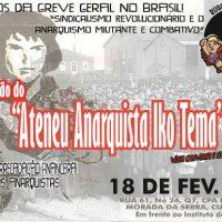 [Cuiabá-MT] 100 anos da Greve Geral de 1917 e inauguração do Ateneu Anarquista Iko Tema
