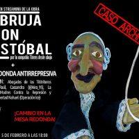 """[Espanha] Projeções públicas em streaming da obra """"A Bruxa e Don Cristóbal"""" e mesa redonda antirrepressiva"""