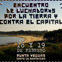 [Uruguai] Encontro de lutadores pela terra e contra o capital