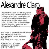 [Caarapó-MS] Liberdade para o indígena Guarani Kaiowá Alexandre Claro