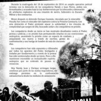[Chile] Solidariedade ofensiva com Juan, Nataly e Enrique