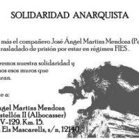 [Espanha] José Ángel Martins Mendoza é transferido de presídio