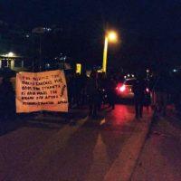 [Grécia] Heraklion, Creta, 3 de março de 2017: Marcha antifascista em dois bairros da cidade