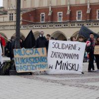 [Polônia] Protesto em Cracóvia em solidariedade com os anarquistas detidos na Bielorrússia