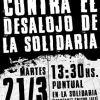 """[Uruguai] Terça 21 de Março: Concentração contra o desalojo do """"La Solidaria"""""""