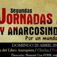 [Chile] Santiago: 2ª Jornadas Ácratas e Anarcossindicalista Por Um Mundo Novo, em 23 de abril