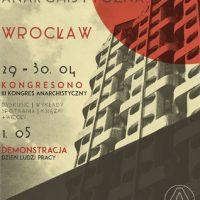 Convite ao Kongresono, 3º Congresso Anarquista na Polônia, de 29 de abril a 1º de maio