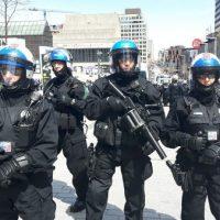 [Canadá] Montreal: Polícia Protege a Manifestação da Extrema-Direita frente aos Antifascistas