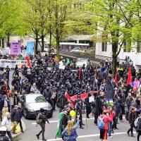 [EUA] Protestos, ataques, confrontos e detenções marcaram o 1º de Maio anticapitalista em Portland