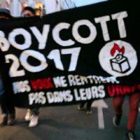 [França] Vídeo: Protesto antifascista no bairro de Belleville em Paris durante a noite das eleições presidenciais