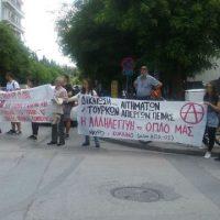 [Grécia] Tessalônica, 26 de maio de 2017: Concentração em solidariedade com os grevistas de fome na Turquia