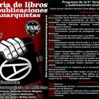 [México] Programa da 8° Feira dos Livros e Publicações Anarquistas