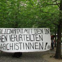 [Alemanha] Berlim: Concentração em solidariedade com a anarquista condenada em Aachen