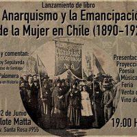 """[Chile] Santiago: Lançamento de """"El anarquismo y la emancipación de la mujer en Chile (1890-1927)"""", em 2 de junho"""