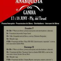 [Espanha] 1ª Mostra do Livro Anarquista em Gandia