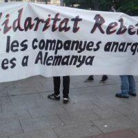 [Espanha] Crônica da manifestação de 7 de junho em solidariedade com a anarquista condenada a 7 anos e meio de prisão na Alemanha