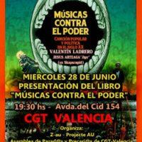 """[Espanha] Valência: Apresentação do livro """"Músicas contra o poder. Canção popular e política no século XX"""""""