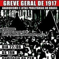 [Florianópolis-SC] Laboratório de Sociologia do Trabalho promove evento em homenagem à greve geral de 1917