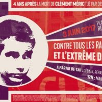 [França] Quatro anos após a morte de Clément Méric, contra todas as formas de racismo e a extrema-direita