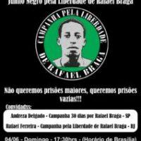 """Rádio Cordel Anarquista transmite neste domingo ao vivo """"Junho Negro pela Liberdade de Rafael Braga"""""""