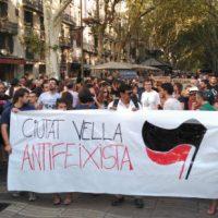 """[Espanha] Em Barcelona, moradores e antifascistas """"engolem"""" e expulsam protesto de extrema-direita"""