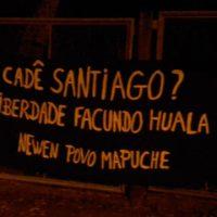 [Foz do Iguaçu-PR] Faixa por Santiago Maldonado e em solidariedade com Facundo Huala