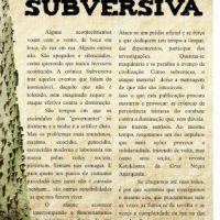 """[Porto Alegre-RS] Nova publicação: """"Crônica Subversiva"""""""