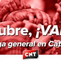 [Espanha] 3 de outubro: vamos à greve geral na Catalunha!